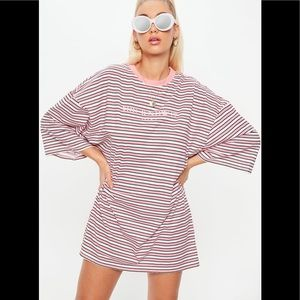 Missguided Oversized Striped T-shirt